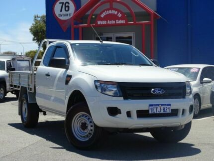 2015 Ford Ranger PX MkII XL Super Cab 4x2 Hi-Rider White 6 Speed Sports Automatic Cab Chassis