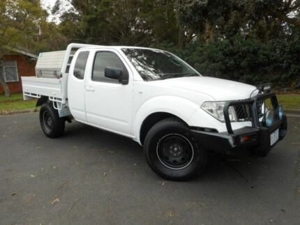 2009 Nissan Navara White Automatic Cab Chassis Moorabbin Kingston Area Preview