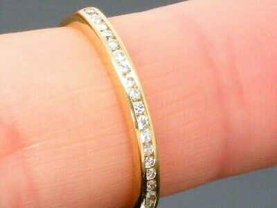 18ct Gold 18K Gold  0.25ct diamond Eternity ring size M