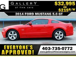 2014 Ford Mustang GT 5.0 V8 $219 bi-weekly APPLY NOW DRIVE NOW