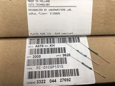 10 Pcs Ri-01cgp1015 Coto Spst No Magnetic Dry Reed Switch