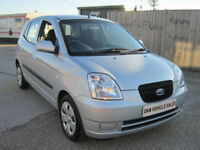 KIA PICANTO 1.1 5DR ZAPP A/C 2007 (56) 76K FSH 10 X STAMPS / 1YRS MOT / 2 OWNERS