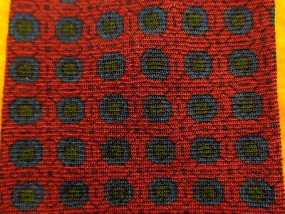 1960s – 70s Men's Ties | Skinny Ties, Slim Ties 1950s 1960s BROOKS BROTHERS ~WOOL DRESS SHIRT SUIT TIE ~RED BLUE MEDALLIONS ~49