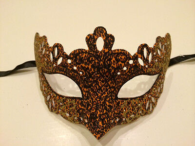 Leopard Venetian Masquerade Costume Ball Prom Dance Party Wedding Mask Men Women (Leopard Masquerade Masks)