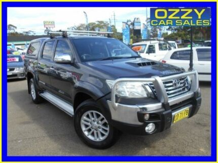 2012 Toyota Hilux KUN26R MY12 SR5 (4x4) Grey 5 Speed Manual Dual Cab Pick-up Penrith Penrith Area Preview