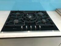 **Ex-Display NEFF T67S76N1 5 ring/Burner Gas Hob 70cm glass stainless surround**