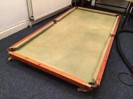 Pool/snooker table top (not slate)