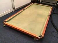 Pool/snooker table top (not slate)