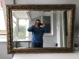 Large golden mirror £30. Collection only, very good condition.
