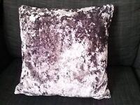 "Mauve cushion Dunelm ""Merlin"" immaculate"