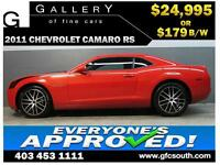 2011 CHEVROLET CAMARO RS *EVERYONE APPROVED* $0 DOWN $179/BW!