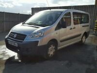 FIAT SCUDO COMBI 120 LWB MULTIJET, 6 SPEED MANUAL, 9 SEATER MINIBUS VAN, LNG MOT, NO VAT, NON RUNNER