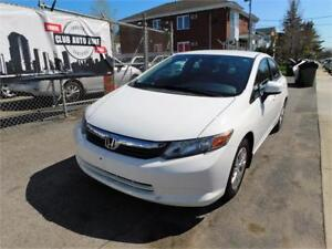HONDA CIVIC LX 2012 (AUTOMATIQUE BLUETOOTH)