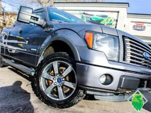'11 Ford F-150 FX4 SUPERCREW 4X4+Nav+Roof+Lthr+BackCam! $200/Pmt