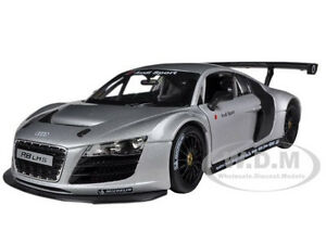 AUDI R8 LMS SILVER 1/24 DIECAST MODEL CAR BY RASTAR 56100