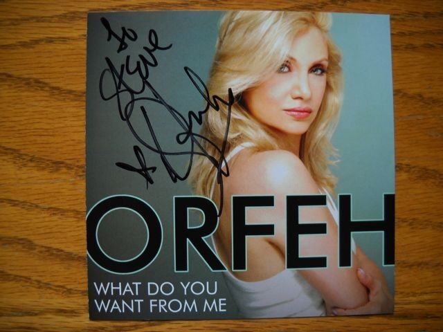 Orfeh Signed / Inscribed  What Do You Want From Me CD Autographed Brand New