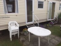 6 Berth caravan for hire at Rockley Park, Poole. (2nd to 9th September)