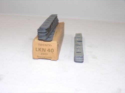 BUSSMANN, SUPER-LAG RENEWAL LINKS, LKN 40, 30 COUNT, 250 VAC, 40 A