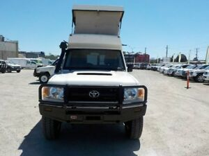 2010 Toyota Landcruiser White Manual Wagon