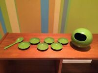 Vintage mid century modern atomic snack dish serving party