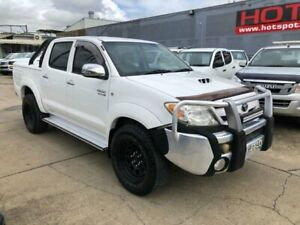2008 Toyota Hilux KUN26R MY08 SR5 White 5 Speed Manual Utility Granville Parramatta Area Preview