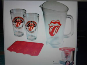 ROLLING STONES Pitcher and Glasses set
