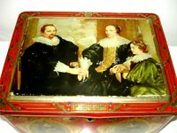 1800s Côte d'or CHOCOLATE TIN Anthony van Dyck BAROQUE LITHOS