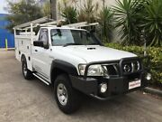 2010 Nissan Patrol GU MY08 DX (4x4) White 5 Speed Manual Leaf Cab Chassis Bowen Hills Brisbane North East Preview