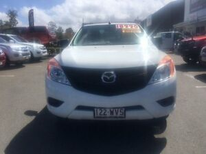 2012 Mazda BT-50 UP0YD1 XT 4x2 White 6 Speed Manual Cab Chassis Alexandra Headland Maroochydore Area Preview