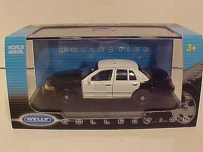 Police 2007 Ford Crown - 2007 Ford Crown Victoria Police Diecast Car 1:43 Welly Plain 5 inch 4 Door White