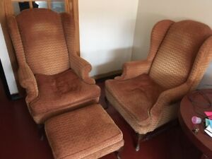 Antique vintage Wingback chairs - the real deal!