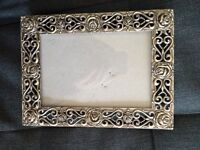 Ornate Photo Frame Solid Metal 4x6 inches