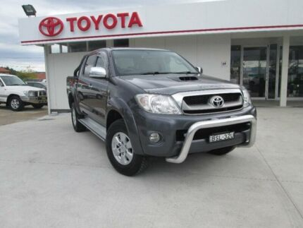 2011 Toyota Hilux KUN26R MY10 SR5 Grey 4 Speed Automatic Utility Cessnock Cessnock Area Preview