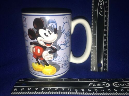 Disney Store Mickey Mouse Sketches Mug RARE RETIRED