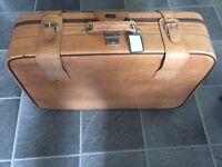 Vintage Crown Suitcase & Vintage Tennis Rackets * Sondico - Dunlop Maxply *