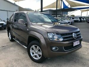 2014 Volkswagen Amarok 2H MY15 TDI420 4Motion Perm Highline Toffee Brown 8 Speed Automatic Utility