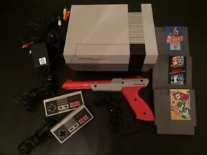 Original Nintendo NES 001 Console and Games