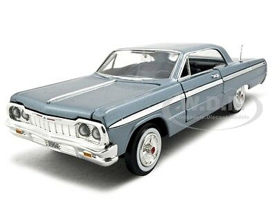 1964 CHEVROLET IMPALA BLUE 1/24 DIECAST MODEL BY MOTORMAX 73259