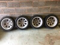 Alloy Wheels. Ford Fiesta Zetec 2010 C/W Tyres Very Good Condition