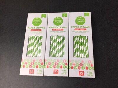 Green Striped Paper Straws (Green Striped Paper Straws (7.75