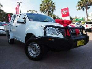 2017 Isuzu D-MAX MY17 SX Crew Cab White 6 Speed Sports Automatic Cab Chassis Brookvale Manly Area Preview