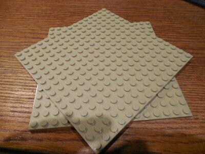 "Lego 2 Base Plates Tan 16x16 Dot 5""x 5"" Square 91405 Sand Desert Western Friends"