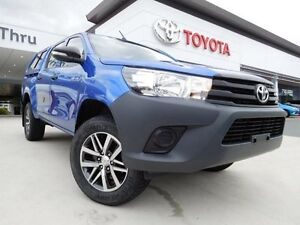 2015 Toyota Hilux GUN125R Workmate (4x4) Blue 6 Speed Automatic Dual Cab Utility Greenway Tuggeranong Preview