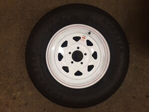205/75R15 NEW WHITE SPOKE WHEELS & TIRES