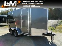 NEW STEALTH 7X12' TANDEM ENCLOSED CARGO TRAILER- EXTRA HEIGHT