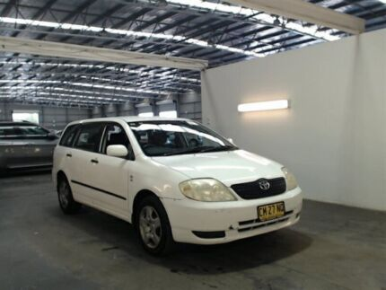 2003 Toyota Corolla ZZE122R Ascent White 5 Speed Manual Wagon