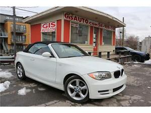BMW 128I CONVERTIBLE CUIR ROUGE BLUETOOTH