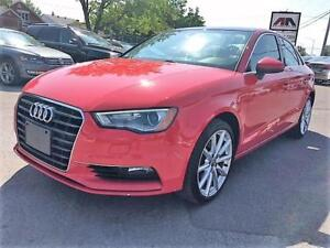 2015 Audi A3 2.0T QUATTRO ROUGE TOIT PANO . MAGS 18""