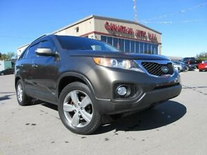 2013 Kia Sorento EX AWD V6, LEATHER, ROOF, LOADED!