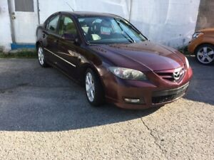 2007 Mazda Mazda3 GT 5 spd 5spd GT, SUNROOF, LARGE WHEELS, AUX i